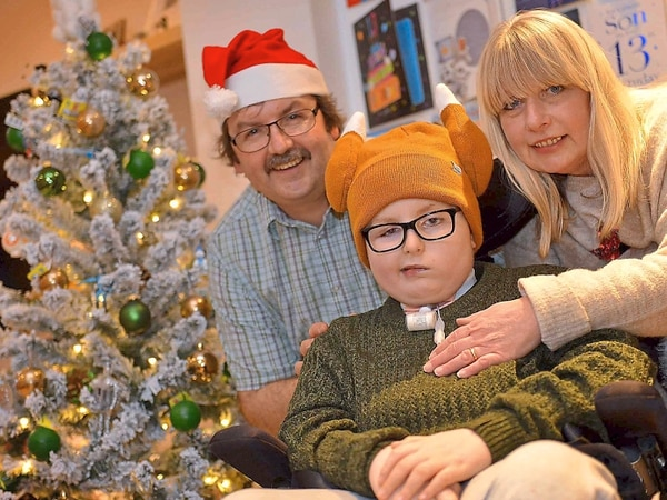 Joy as young Matthew Cooper celebrates first Christmas at revamped home