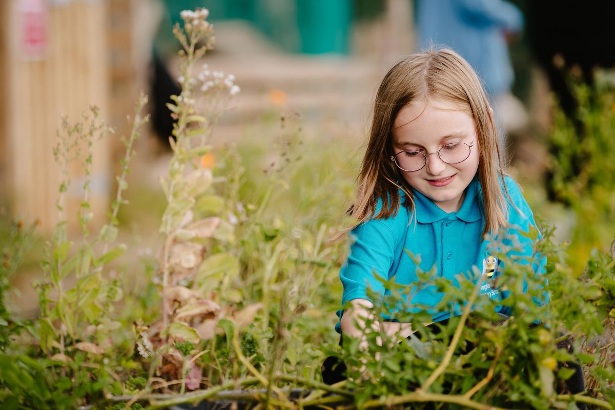 Children at Longlands Community Primary School in Market Drayton have invited local residents into the community to visit their eco-garden and animals. In Picture L>R: Jessica Armstrong 10