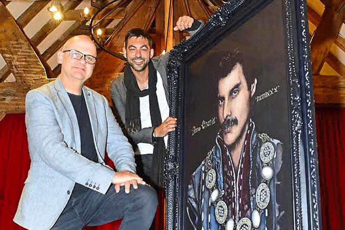 Freddie Mercury's new-look portrait by Shrewsbury artist is unveiled