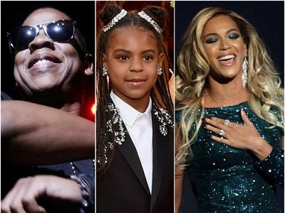 Blue Ivy Carter, seven, shares songwriting award with parents and co-writers