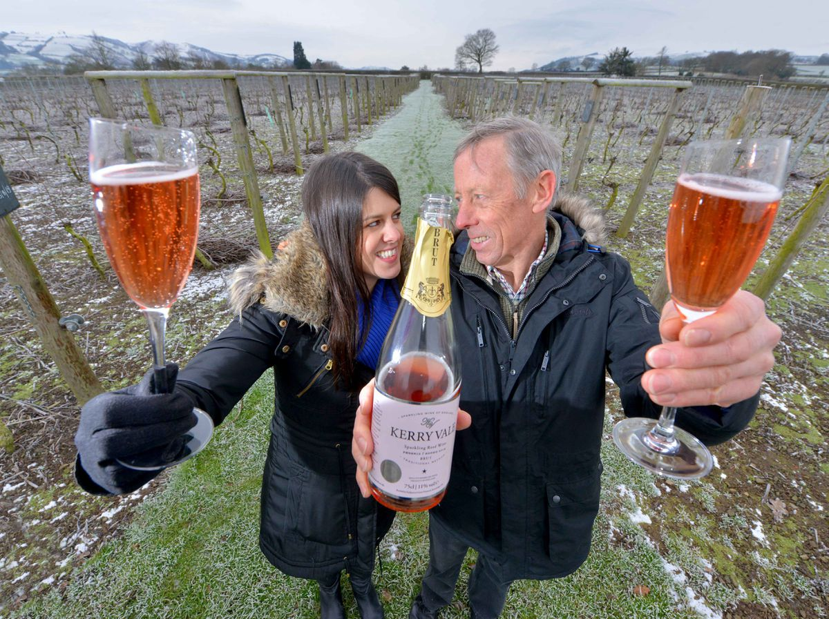 Father and daughter team: Geoff Ferguson and Nadine Roach at Kerry Vale Vineyard