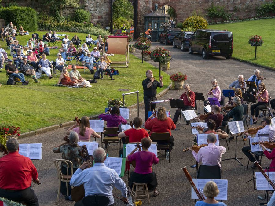 Shrewsbury Symphony Orchestra perform at Shrewsbury Castle. Picture: Andy Bell