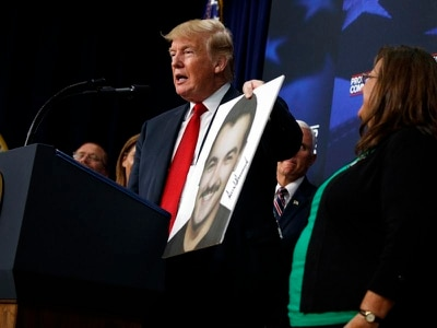 Real victims of immigration crisis are murdered Americans, says Trump