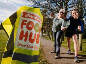 SHREWS COPYRIGHT SHROPSHIRE STAR JAMIE RICKETTS 15/04/2021 - Diane Lobban and Daughter Pippa Lobban from Shrewsbury are either walking or running 5K each day of April to raise money for Shrewsbury Food Hub..