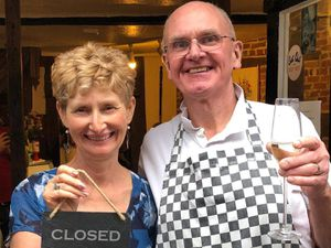 Lesley and Clive Ingram have hung up their aprons and sold the Copper Kettle tearoom. Photo: Nick Lowe