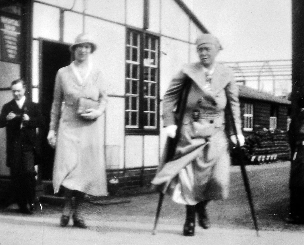 Dame Agnes Hunt shows the Princess Royal around Shropshire Orthopaedic Hospital, some time around 1930