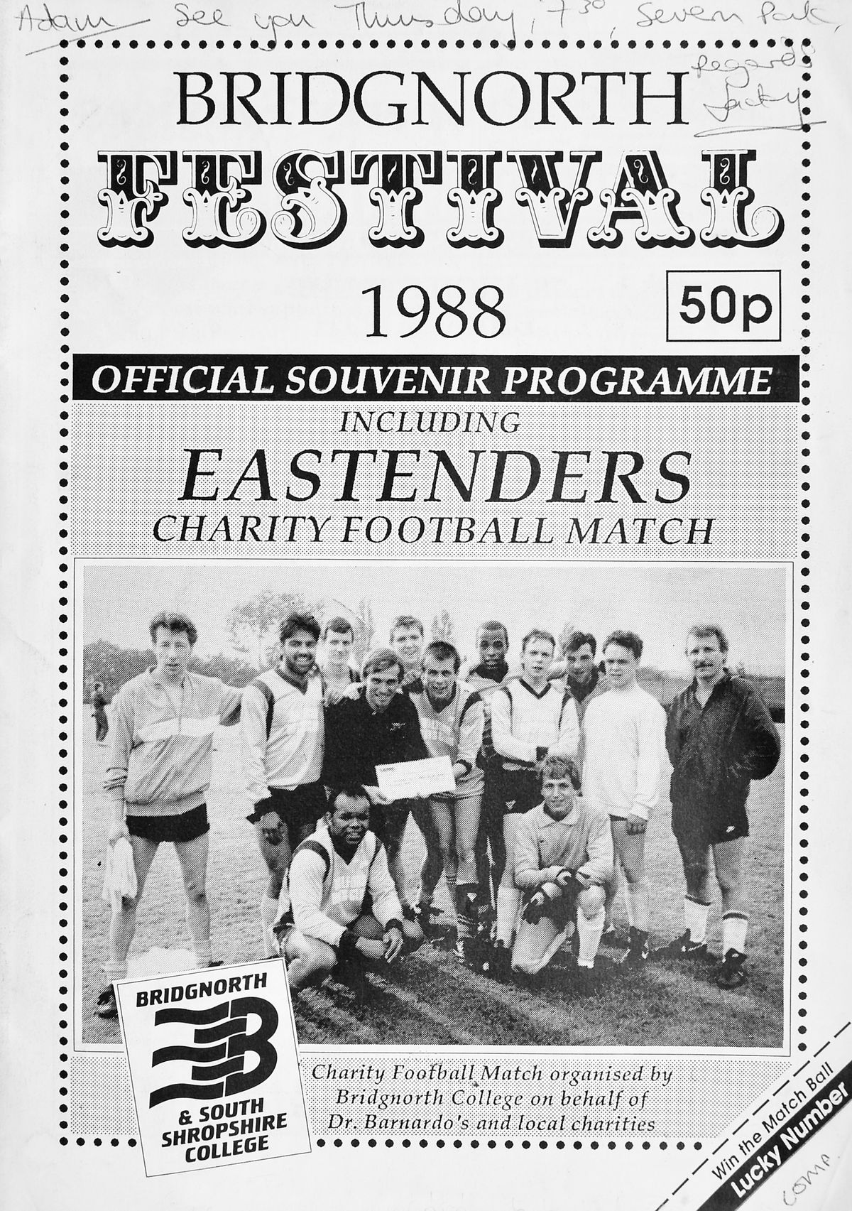 The cover of the programme.