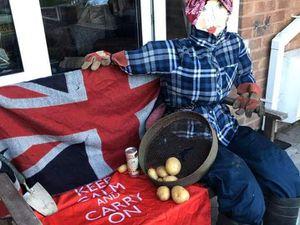 VE Day scarecrows in Wrockwardine village
