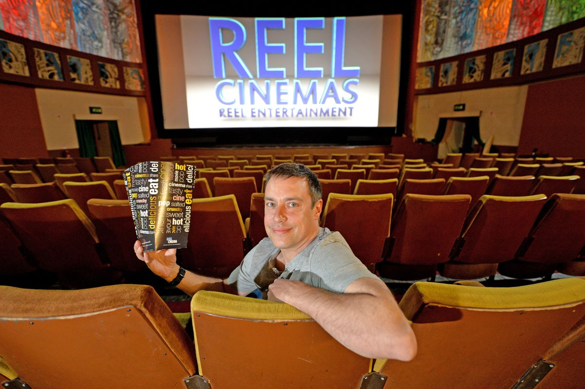 James Frizzell at the Majestic cinema in Bridgnorth which is back open