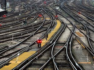 Clapha Junction station (Cathal McNaughton/PA)