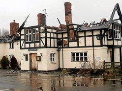 Arson-wrecked Shropshire pub goes up for sale