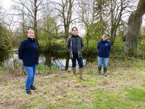 From left, Fran Hill, Alexander Newport and Deb Bolger