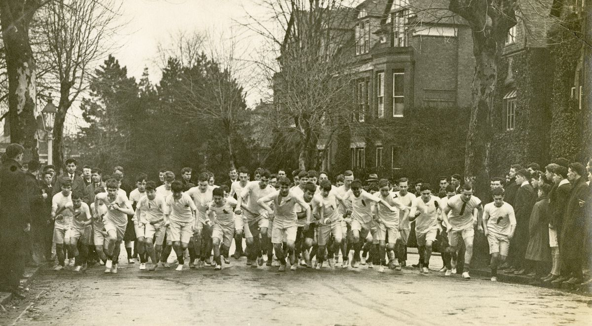 The 1923 junior paperchase gets underway