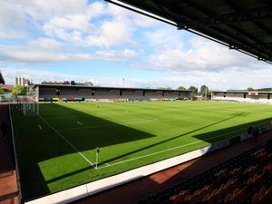 The pitch at the Pirelli Stadium home of Burton Albion FC.