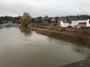The River Severn in Frankwell, Shrewsbury