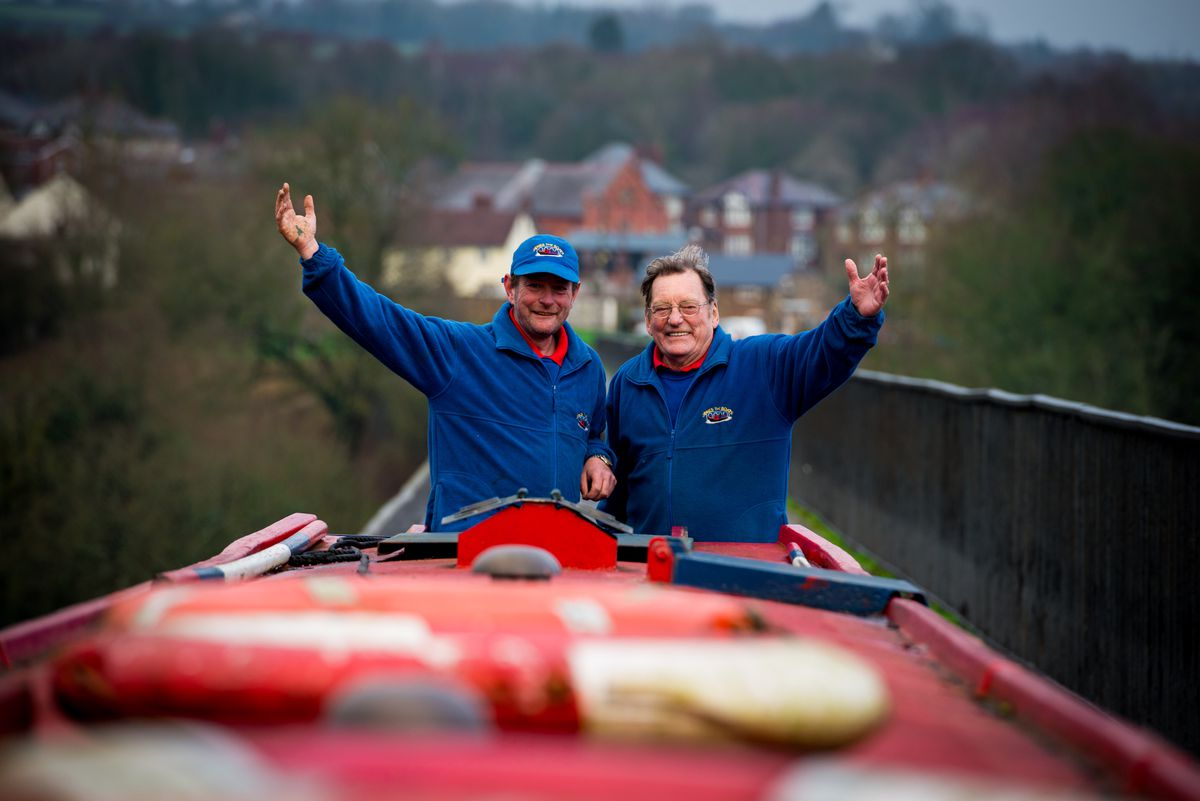 Howard and Peter Jones on Tommy the boat