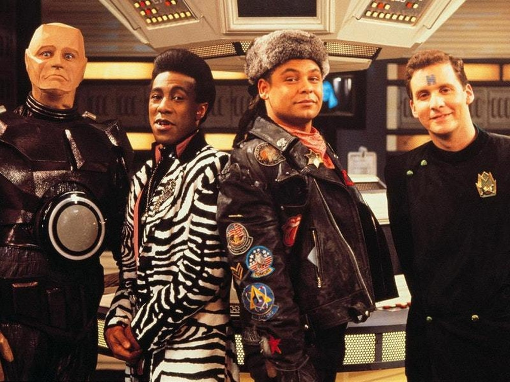 The cast of Dave series Red Dwarf as the BBC is reportedly considering  bidding to take full control of the channel's owner UKTV