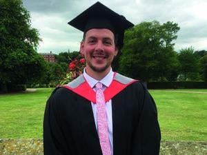 Ice hockey player Mike Jones completed a degree with Shrewsbury Colleges Group