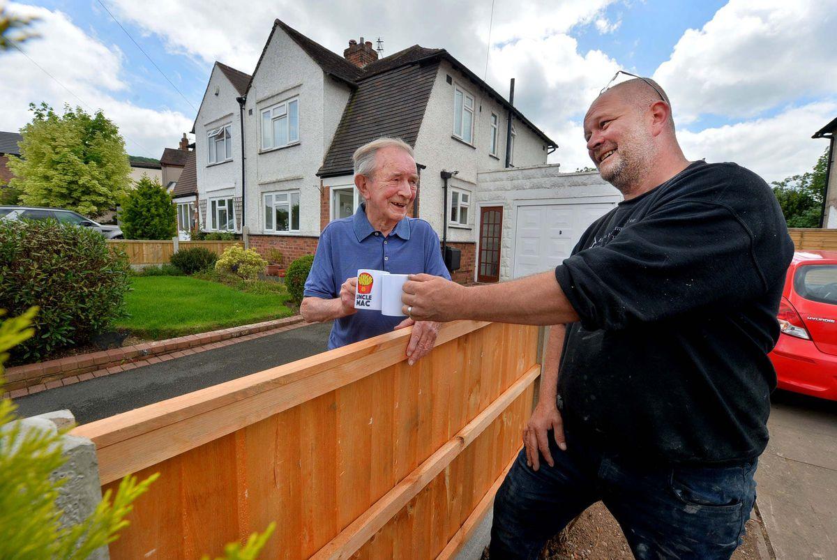 George McDonald 88, with Jeff Evason from Evason's Home Improvements