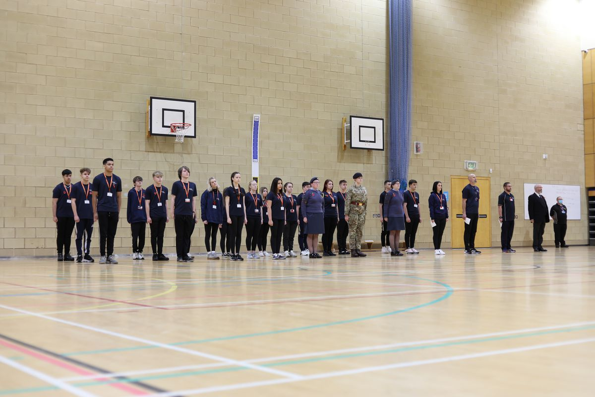 Telford College held a service in its sports hall