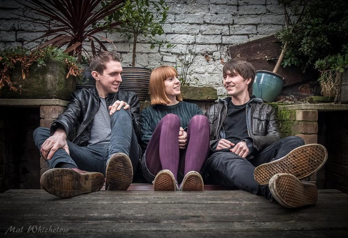 Rhys Owen(left), Lauren Greaves and Jack Flynn of Floodhounds