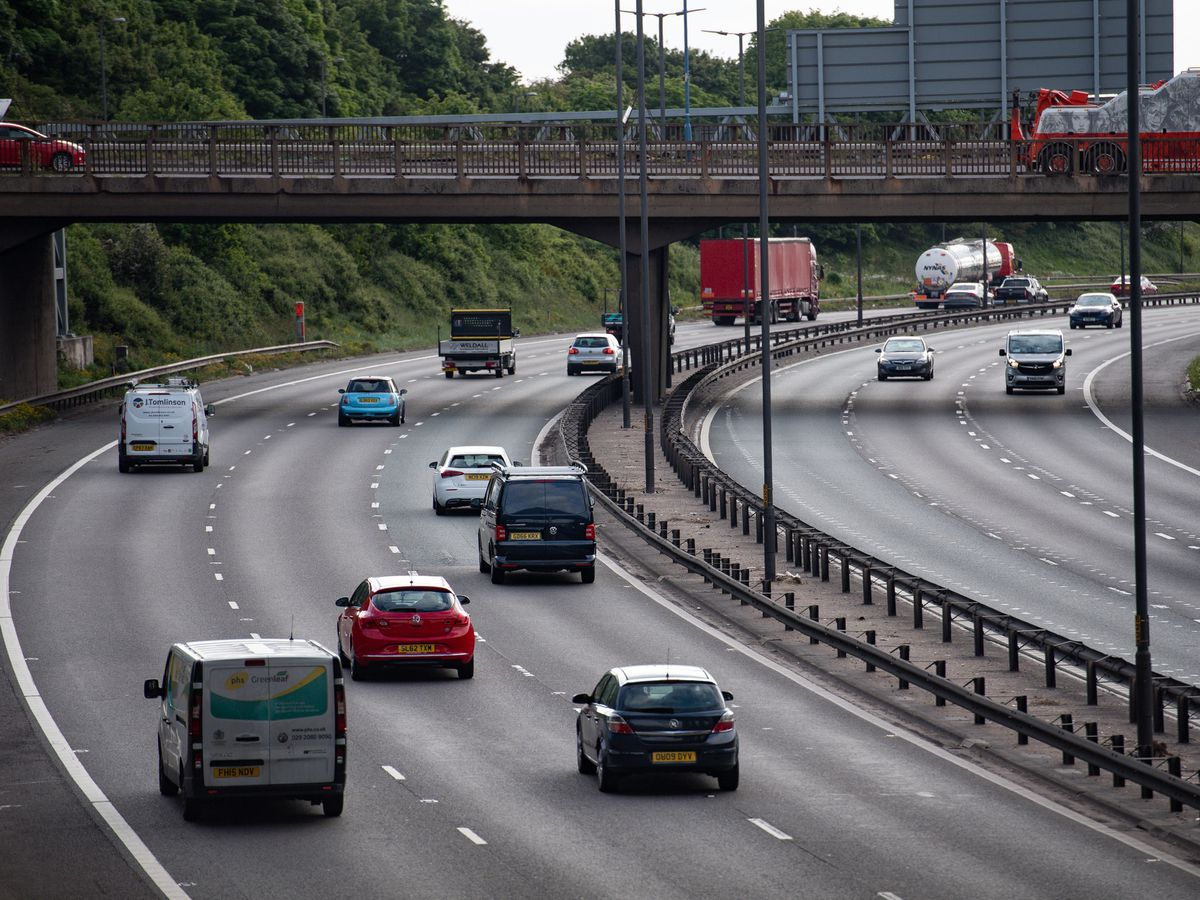 A picture of the M6 motorway in the West Midlands