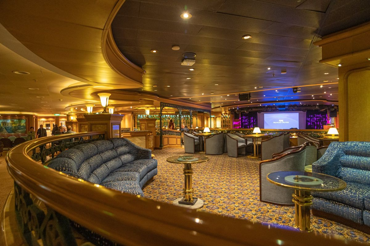An empty lounge on board the ship