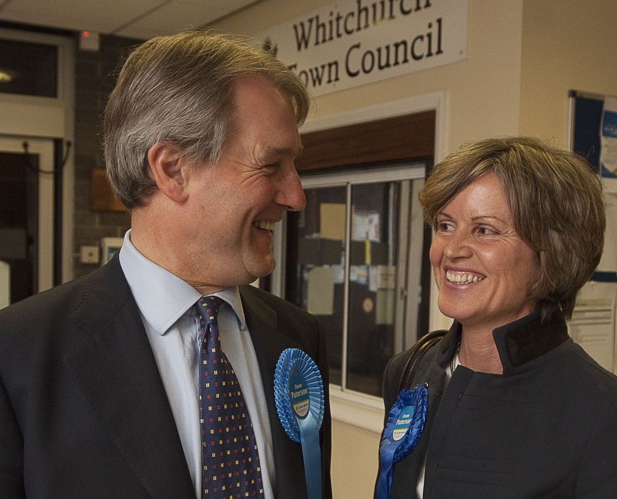 Owen and Rose Paterson at the Whitchurch Civic Centre during the 2010 election