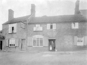 At the time this photo was taken the licensee was Edwin Owen – his name is above the door, and he may be the gentleman standing in the doorway