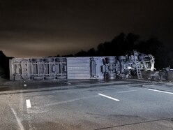 M6 to shut for emergency repairs after lorry crash and fire