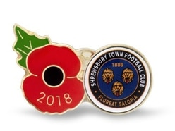 Shrewsbury Town kicking off poppy appeal with special badge