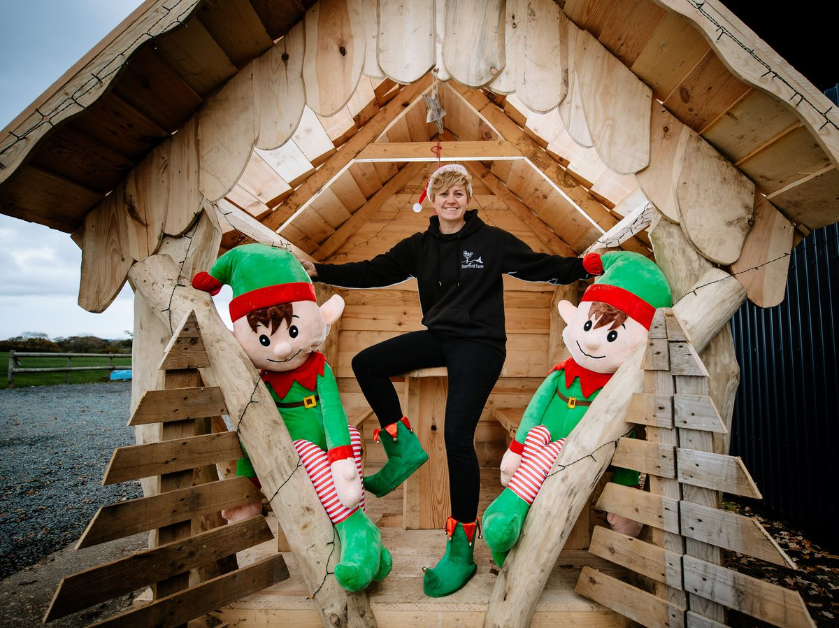 Cindy Edwards at Stanford Farm Weddings and Events has vowed to 'save Christmas' by holding Covid-safe parties in log gazebos