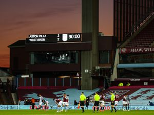 A general view of Villa Park, home stadium of Aston Villa during sunset as players of both teams react at full time. (AMA)