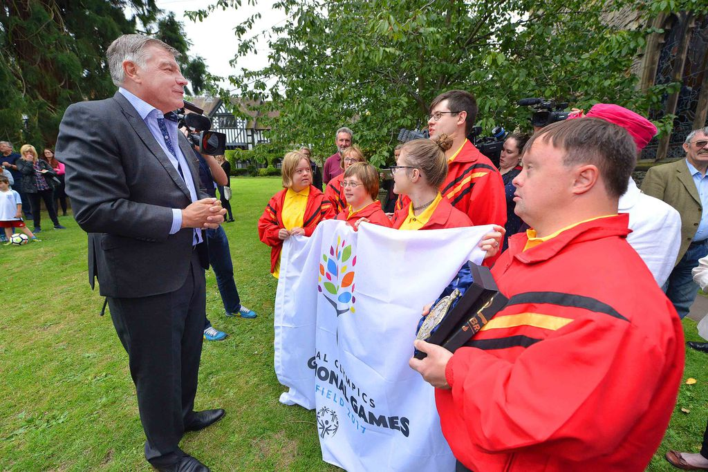 Sam Allardyce at the Special Olympics torch ceremony