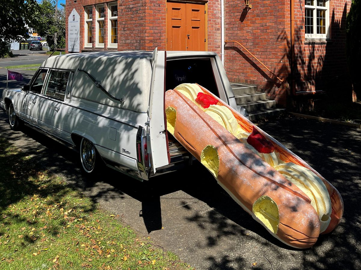 Doughnut coffin creates memorable send-off for New Zealander