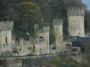 The location for I'm A Celebrity, Gwrych Castle in Abergele, North Wales
