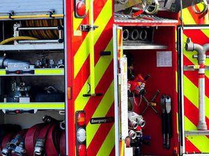 Fire crews tackle blaze in flat
