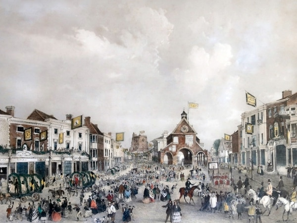 Picture shows how Victorian Newport knew how to party