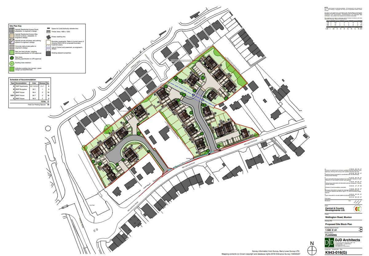 The plans for the houses