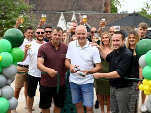 Chris Oakes, Steve Bull and Paul Craven at the opening of The Forester's Arms. Picture: Ed Bagnall