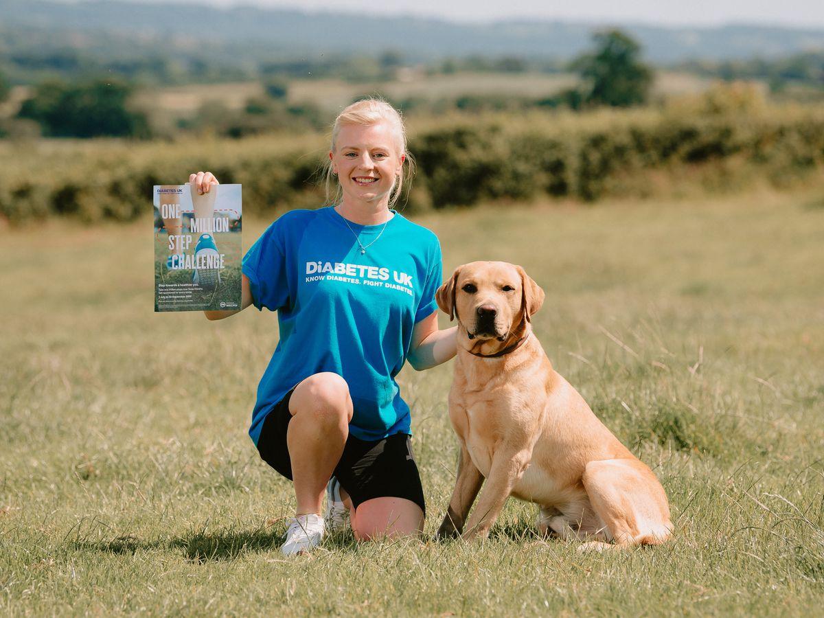 Laura Yates with her dog Juke
