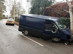 Man injured after van hits tree in Bridgnorth crash