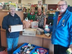 Telford Rotarians in food bank boost