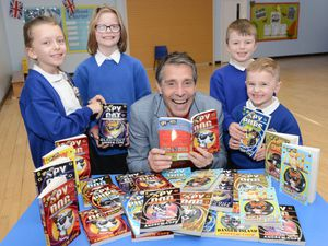 Author Andrew Cope joined pupils at Longlands Community Primary School, Market Drayton, to talk about his work