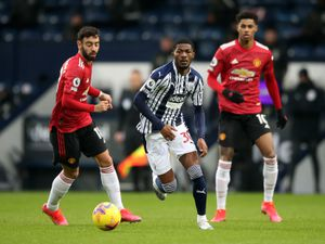"West Bromwich Albion's Ainsley Maitland-Niles during the Premier League match at the Hawthorns, West Bromwich. Picture date: Sunday February 14, 2021. PA Photo. See PA story SOCCER West Brom. Photo credit should read: Nick Potts/PA Wire. RESTRICTIONS: EDITORIAL USE ONLY No use with unauthorised audio, video, data, fixture lists, club/league logos or ""live"" services. Online in-match use limited to 120 images, no video emulation. No use in betting, games or single club/league/player publications.."