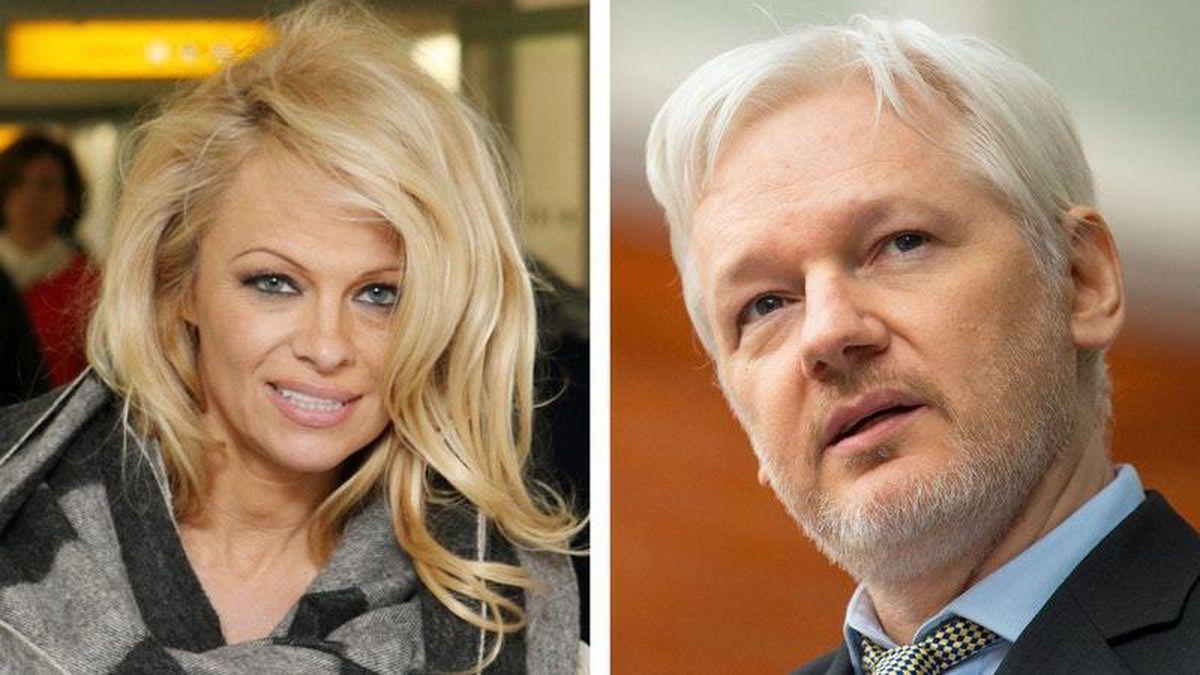 Pamela Anderson and Julian Assange (PA)