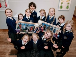 Budding young Shropshire artists gather at stately home for awards ceremony