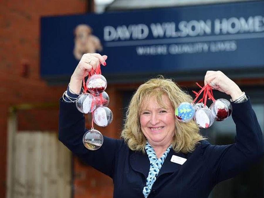 Sharon Wilson with some of the baubles