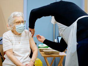 Dorothy Georgiou, 87, from Wellington, Telford has the vaccine