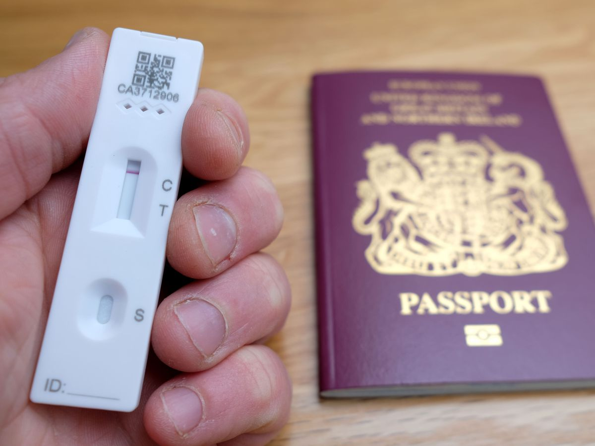 Eligible travellers will be able to order lateral flow tests from private testing providers